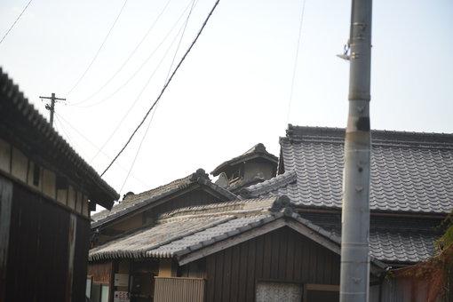 茂浦地区の家並み