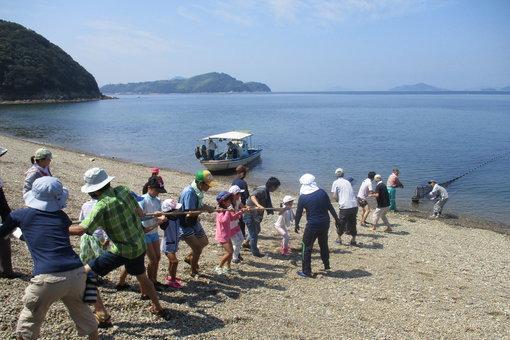 手島で自然体験を楽しむ子どもたち