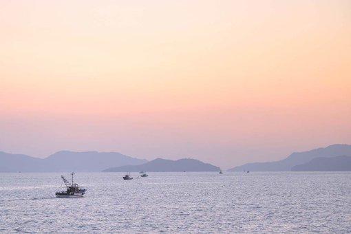 本島から見た瀬戸内海